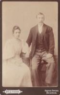 ANTIQUE CABINET PHOTO -COUPLE. BUXTON S STUDIO - Photographs