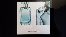 Rare Tiffany & Co Parfum Hard Paper Carte - Perfume Cards