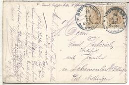 ALEMANIA STUTTGART 1911 BAHNHOF - Cartas
