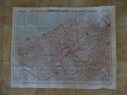 CARTE TARIDE N°1 / CARTE ROUTIERE POUR AUTOMOBILISTES ET CYCLISTES / NORD DE LA FRANCE ET BELGIQUE B489 - Roadmaps
