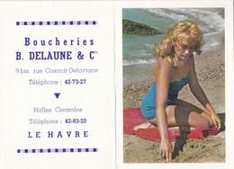 Calendrier 1964 Publicité Boucherie Delaune Rue Casimir Delavigne Le Havre - Calendars