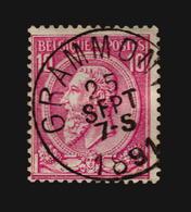 O/Used-Belgique Nº 46 GRAMMONT - 1884-1891 Leopold II