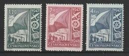 MiNr. 512 - 514  Tschechoslowakei / 1947, 1. Jan. Freimarken: Wiederaufbau Der Industrie. - Tschechoslowakei/CSSR