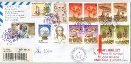 Belle Lettre Recommandée De Corée Du Sud, 2018, Adressée Andorra, Avec Timbre à Date Arrivée - Corée (...-1945)