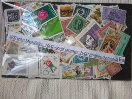 EA-LOTE 1000 SELLOS DIFERENTES UNIVERSALES,MUNDIALES,SIN TASAR,CON MUY BUENOS SELLOS Y ALGUNAS NOVEDADES DE PAISES - Stamps