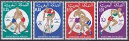 Marokko Morocco 1976 Sport Spiele Olympia Olympics Montreal Ringen Radfahren Boxen Laufen, Mi. 840-3 ** - Marokko (1956-...)