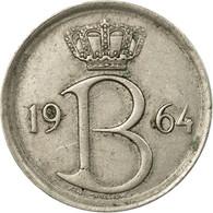 Monnaie, Belgique, 25 Centimes, 1964, Bruxelles, TTB, Copper-nickel, KM:153.2 - 02. 25 Centimes