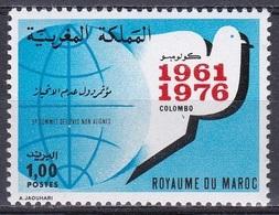 Marokko Morocco 1976 Politik Blockfreie Staaten Non-aligned Countries Friedenstaube Tauben Doves, Mi. 857 ** - Marokko (1956-...)