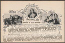 Epitaph D'Agnès Sorel Par Jacques Millet, C.1910s - Dorange CPA - Historical Famous People