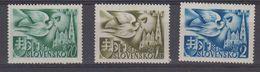 Slovakia 1942 European Postcongress 3v ** Mnh (41151) - European Ideas