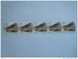België Belgique 1998 Vogels Oiseaux Buzin Kramsvogel Grive Rouleau Nr CHIFFRE (5) R89 2792 MNH ** - Rollen