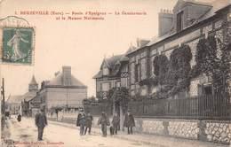 28 - Beuzeville - La Gendarmerie - Route D'Epaignes Animée - La Maison Normande - France