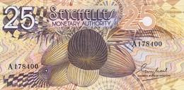BILLET DE 25 RUPEES - Noix De Coco - Adolescent Machette , Panier Et Noix - Seychelles