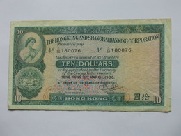 HONG-KONG Ten 10 Dollars 1983/1989  - Standard Chartered Bank  *****  EN ACHAT IMMEDIAT **** - Hong Kong