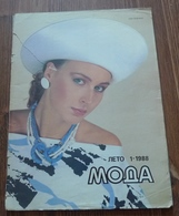 USSR Soviet Russia Leningrad Fashion Magazine MODA Summer 1988 RARE With PATTERN - Slav Languages