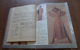 USSR Soviet Latvia Fashion Magazine RIGAS MODES Spring 1989 RARE MODA With PATTERN Riga Models House - Slav Languages