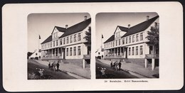 DENMARK - STEREOSCOPIC CARD ** BORNHOLM - HOTEL HAMMERSHUUS ** Edit. Steglitz Berlin 1906 - RARE - Danemark