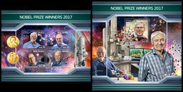 MALDIVES 2018 - Nobel Prize 2017 In Chemistry. M/S + S/S Official Issue - Chemistry