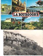 DIJON - BEAUNE - SEMUR EN AUXOIS - CLOS VOUGEOT. 2 CP Multivues La Bourgogne - Cpsm Pouilly En Auxois (plis Marqués) - France