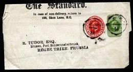 A5684) UK Grossbritannien Privates Streifband Private Wrapper N. Ernzen - Storia Postale