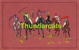 CPA JOCKEY CHEVAL CHEVAUX HORSE JUMPING RACING HORSES - Hippisme