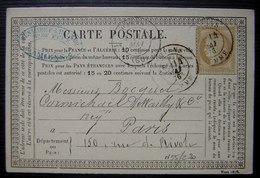 Amiens,1876 Carte Précurseur Desmaret Leclerq , Marchand De Fers - 1849-1876: Classic Period