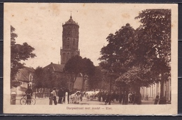 1916 ELST Dorpsstraat Met Veemarkt En N.H. Kerk Met NVPH 50 In Paar Naar Amsterdam - Nederland