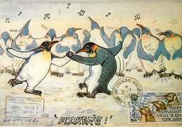 IIlustrateur A. Le Guilloux - Animaux - Manchots - Terres Australes Et Antarctiques Françaises - Autographe -Signé - Illustratoren & Fotografen