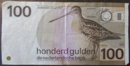 Pays-Bas - Billet 100 Gulden Amsterdam 28 Juli 1977 - Bon état - [2] 1815-… : Royaume Des Pays-Bas