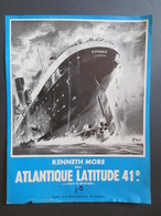 "Titanic - Affiche Ancienne Du Film - Atlantique Latitude 41° "" A Nigth To Remember - Rank Film - 1958 - - Affiches"