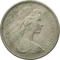 Monnaie, Grande-Bretagne, Elizabeth II, 5 New Pence, 1969, TTB, Copper-nickel - 1971-… : Monnaies Décimales