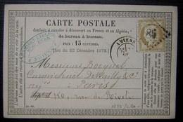 Amiens,1875 GC 85 Carte Précurseur Desmaret Leclerq , Marchand De Fers - 1849-1876: Classic Period