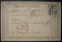 Amiens,1877 Carte Précurseur Desmaret Leclerq , Marchand De Fers - Marcophilie (Lettres)