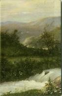 EUGENIO CECCONI SIGNED POSTCARD - LANDSCAPE - EDIT BALLERINI & FRATINI N.125 - MAILED FROM CALITRI 1934 (BG1077) - Illustratoren & Fotografen