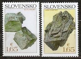 Slovakia 2018 Pofis 669-70 ** Minerals - Unused Stamps