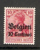 006521 German Occupation Of Belgium 1914 10c MH - Belgian Zone