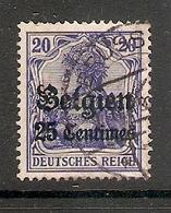 006523 German Occupation Of Belgium 1914 25c FU - Zone Belge