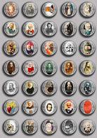 Writer Victor Hugo ART BADGE BUTTON PIN SET 3 (1inch/25mm Diameter) 35 DIFF - Celebrities