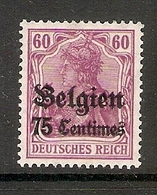 006525 German Occupation Of Belgium 1914 75c MH - Zone Belge