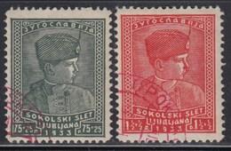 Yugoslavia 1933 King Petar - Sokolski Slet Ljubljana, Used (o) Michel 255-256 - 1931-1941 Regno Di Jugoslavia