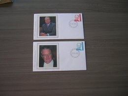 """BELG.2002 3050 & 3051 FDC Silk-soie-zijde  """"Albert II"""" - FDC"""
