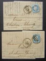 Reims 1876 Camuset & Co Lot De Deux Lettres (papier Pelure) - 1849-1876: Classic Period