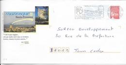ALPES DE HAUTE PROVENCE 04  -  MANOSQUE     -  FLAMME :  VOIR DESCRIPTION   -  THEME PERSONNAGE CELEBRE  -  2004 - Mechanical Postmarks (Advertisement)