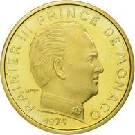 Monnaie, Monaco, Rainier III, 10 Centimes, 1974, FDC, Aluminum-Bronze - 1960-2001 Nouveaux Francs