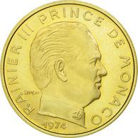 Monnaie, Monaco, Rainier III, 20 Centimes, 1974, FDC, Aluminum-Bronze - Monaco