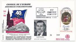 FRANCE - Assemblée Parlementaire 1989 - Lech Walesa - OMEC Strasbourg Conseil De L'Europe - Europa-CEPT