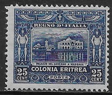 Italia Italy 1910 Eritrea Soggetti Africani C25 D13 Sa N.37 Nuovo MH * - Eritrea