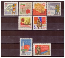 URSS636) 1964-Ventennale Liberaz.ne Paesi Socialisti -Unificato 2828-34 E 2867 3 Serie Cpl8val.MNH - 1923-1991 USSR