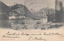 RIVA DEL GARDA-TRENTO-LAGO DI GARDA-BLICK AUF RIVA VOM PARK DES HOTEL LIDO- VIAGGIATA IL 3-4-1901 - Trento