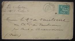 Preignac 1879 (Gironde) Lettre Du Marquis De Roland Au Marquis De Vaulserre à Propos De Son Vin De Sauternes - Marcophilie (Lettres)
